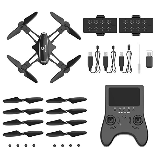 51uqEfh9cmL - Holy Stone HS230 RC Racing FPV Drone with 120° FOV 720P HD Camera Live Video 45Km/h High Speed Wind Resistance Quadcopter with 5.8G LCD Screen Real Time Transmitter Includes Bonus Battery