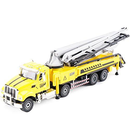 KDW 1/55 Scale Diecast Concrete Pump Truck Construction Vehicle Cars Model Toys (Cement Pump Truck)