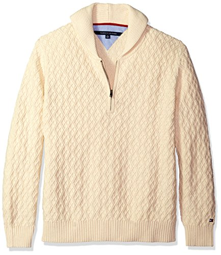 1/4 Zip Argyle Sweater - 4