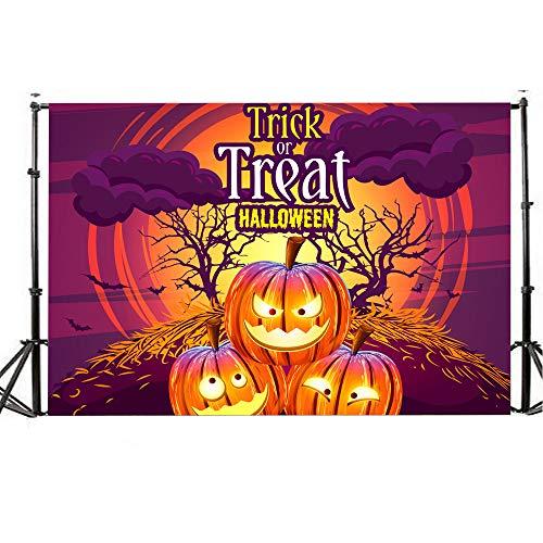 Yoyorule Halloween Backdrops Lantern Background Photography Studio Decoration 5x3FT]()