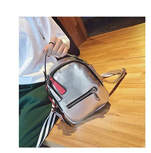 Pink de tas Silver Super Marea Pack een Girl Koreaanse Fire Scrub wilde op rugzak van Messenger versie Saoga Fx4aYqnIY