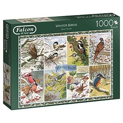 Jumbo 11234 Falcon De Luxe Winter Birds Puzzle Da 1000 Pezzi
