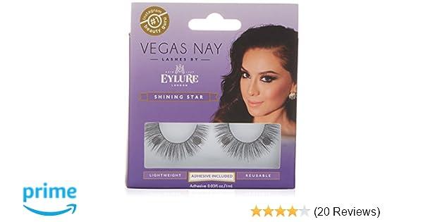 d3f075dc3b0 Amazon.com : Eylure Vegas Nay Shining Star Fake Eyelashes, Adhesive  Included, Reusable, 1 Pair : Beauty