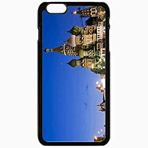 Unique Design Fashion Protective Back Cover For iPhone 6 Plus Case Slim (5.5 inch) Capital Russia Moscow Black
