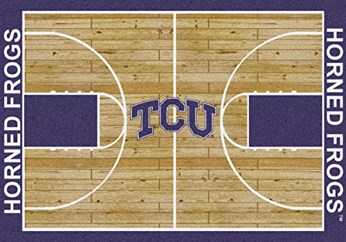 Texas Christian Horned Frogs Milliken NCAA Home Court Area Rug (5'4'' x 7'8'') by Milliken