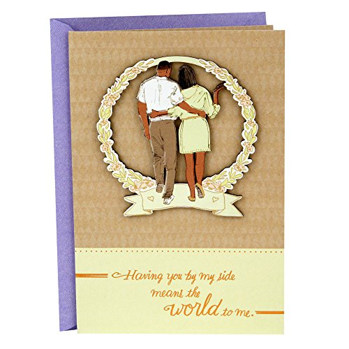 Hallmark Romantic Mahogany Mother's Day Card for Wife or Significant Other (You Mean The World to Me)