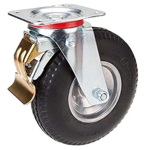 Lenkrolle mit Feststeller 225 mm PU-Bereifung mit Stahlfelge pannensicher