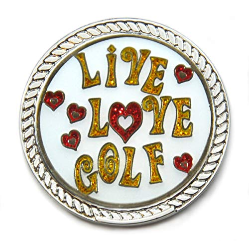 Navika Kicks Candy Live Love Golf Glitzy Ball Marker with Round Shoe Ornament