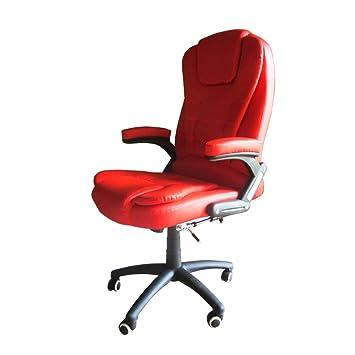 Joolihome Massage Chaise de Bureau de Électrique Massant Relaxation  Pivotante à 360 Fauteuil Direction Rouge 8d31086cd296