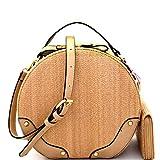 Best Circle Handbags - Woman Circle Woven Crossbody Messenger Bag Round Rattan Review