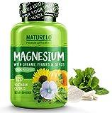 NATURELO Magnesium - 200 mg Natural Glycinate Chelate - Best Organic Supplement