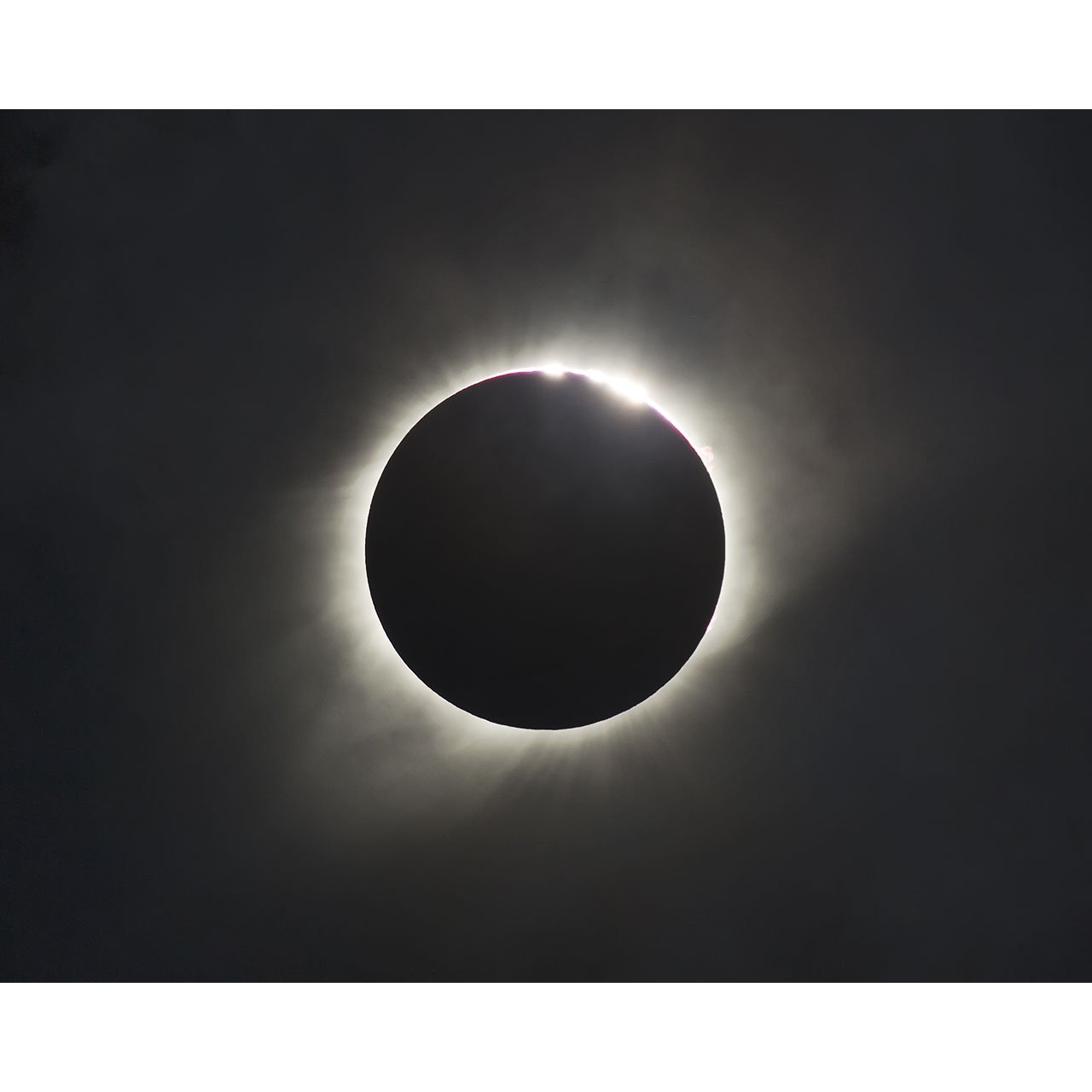 8x10 Solar Eclipse Print Crater Light by TravLin Photography