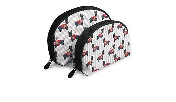 Bolso cosmético Scottie Dog con gaitas Maquillaje de Viaje Estuche para lápices Estuche Multifuncional Almacenamiento portátil - Juego de 2 Piezas: Amazon.es: Equipaje