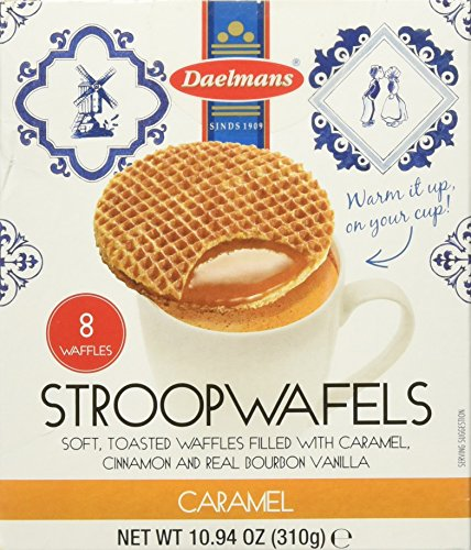 Daelmans Caramel Stroopwafels 8 count waffles 10.94 ounce Pack Of 3