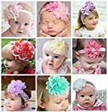 Misskt® Baby Girl's Cute Headbands Baby's Headbands 9 Pieces