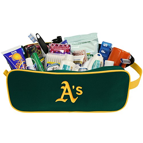 (Charm14 MLB Oakland Athletics Travel Case with Embroidered Logo )