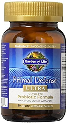 Garden of Life Whole Food Probiotic Supplement - Primal Defense ULTRA Ultimate Probiotic Formula Dietary Supplement, 60 Vegetarian Capsules