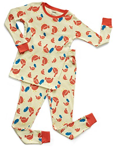 (Leveret Organic Cotton Chicken 2 Piece Pajama Set 2 Years)