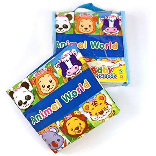 Felt Quiet Books, Correcting Animal Matching Puzzles, Touch & Feel Activity Cloth Book for Babies, Infants, Toddlers, Soft Fabric Busy Book, Stocking Stuffers for Boys & Girls(My First Puzzles)