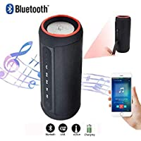 Waterproof Bluetooth Speakers Outdoor Wireless Portable Speaker with 10 Hours Playtime 33-Foot Bluetooth Range, Enhanced Bass, Noise-Cancelling Microphone