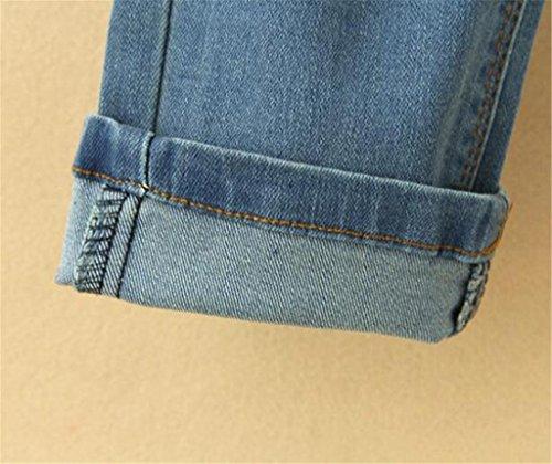 Wgwioo Denim Azul Tramo Curvas Básicas Bootcut Jeans Womens Destruir Flaco Arrancó Apenado Pantalones Slim Pocket Classic Light Blue
