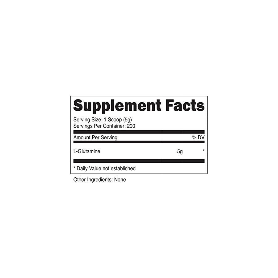 Nutricost L Glutamine Powder Pure L Glutamine 5000mg per Serving High Purity