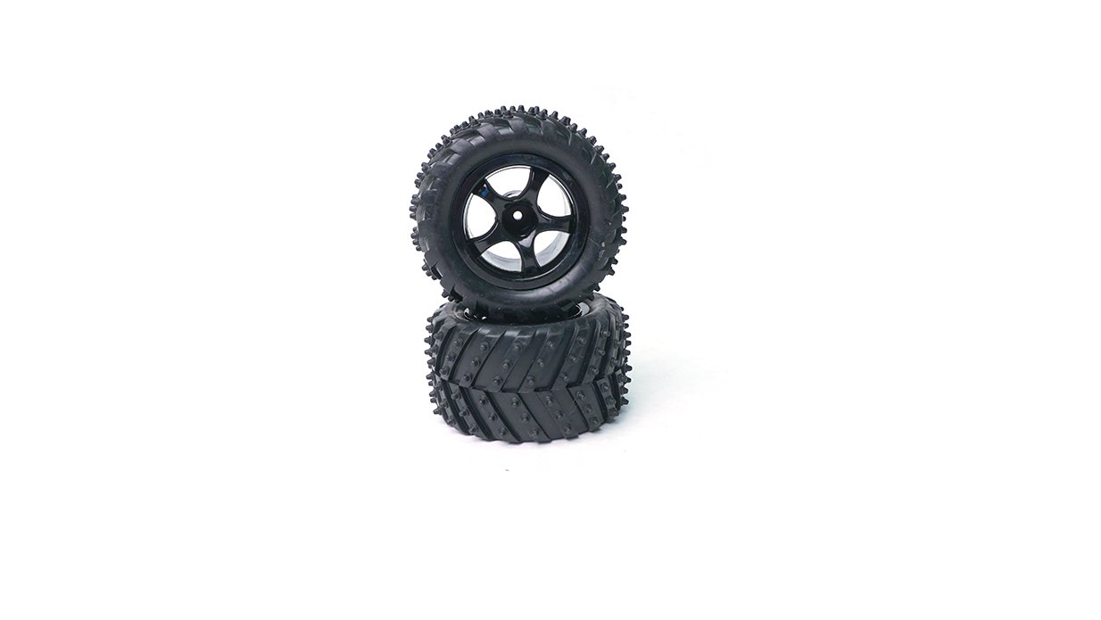 Pair Rage RC C1823 Tire//Wheel; Mounted and Glued R18MT