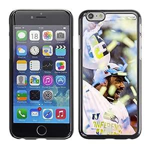 EJOY---Cubierta de la caja de protección la piel dura para el / Apple Iphone 6 Plus 5.5 / --Fanático del fútbol americano