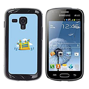 MOBMART Slim Sleek Hard Back Case Cover Armor Shell FOR Samsung Galaxy S Duos S7562 - Funny Castle Attack