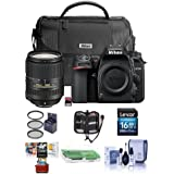 Nikon D7500 DSLR AF-S DX NIKKOR 18-300mm f/3.5-6.3G ED VR Lens - Bundle Faux Leather Bag, 32GB SD Card, 16GB SDHC Card, Cleaning Kit, Card Reader, 67mm Filter Kit, Mac Software Pack More
