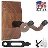 String Swing Guitar Hanger ? Holder for Electric Acoustic and Bass Guitars ? Stand Accessories for Home or Studio ? Custom Shop Series Black Walnut Hardwood Wall Mount CS01K-BW-Combo