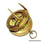 Nautical Gift Decor Brass Sundial Compass - Push Open Compass - Steampunk Accessory -
