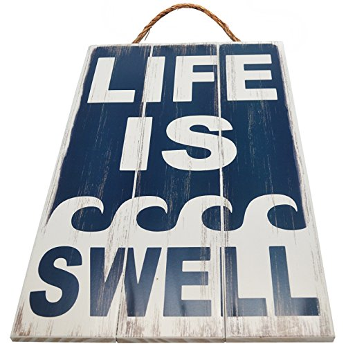 Life Is Swell Vintage Wood Sign For Beach House Wall Decor Or Gift -- PERFECT BEACH HOUSE DECOR!