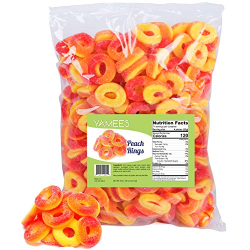 (Peach Rings - Gummy Rings Candy - Gummy Rings Bulk - Bulk Candy - 5 Pounds (Peach))