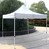 Cloud Mountain 10 x 10 Feet Outdoor Pop Up Canopy Gazebo 1 Tier Patio Camping Party Easy Portable Instant Canopy With One Button Folding 210D Oxford Roller Bag, White