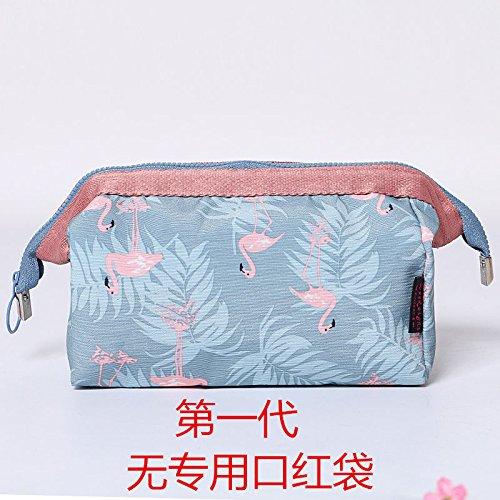 LULANFlamingo creative multi-dimensionale große Ablagerungen von Reisen, pack Frauen Kosmetiktasche waschen, 18 * 13 * 9 cm, blau Flamingo