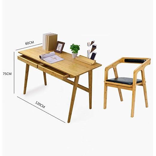 XUERUI Mesas Mesa de bambú de madera maciza Silla de bambú ...