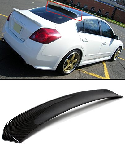 Cuztom Tuning FOR 2007-2012 NISSAN ALTIMA 4 DOOR SEDAN CARBON FIBER REAR WINDOW ROOF SPOILER VISOR WING - Nissan Altima Rear Spoiler