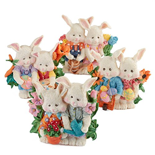 Poly Resin Easter Bunny Tea Light Candle Holders | 6 Candle