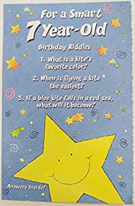 Amazon For A Smart 7 Year Old Birthday Riddles Greeting Card