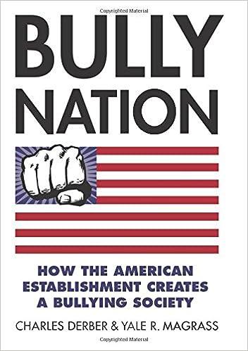 Bully Nation How The American Establishment Creates A Bullying