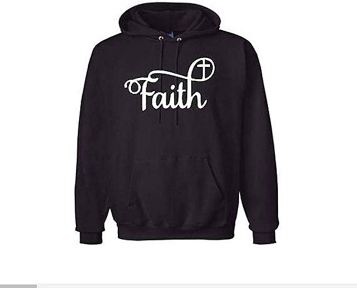 Merch Massacre Faith Religious Cross Unisex Hoodie Pullover Hooded Sweatshirt Many Sizes Colors Horror Halloween