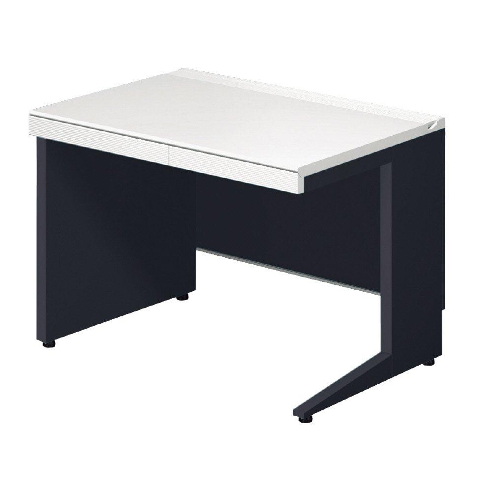 プラス デスク STAGEO スタンダードタイプ 平机 左パネル脚/右L字脚 ST-F167H-LP ホワイト/ブラック 673460 B013JP45RG ホワイト/ブラック|ST-F167H-LP ホワイト/ブラック
