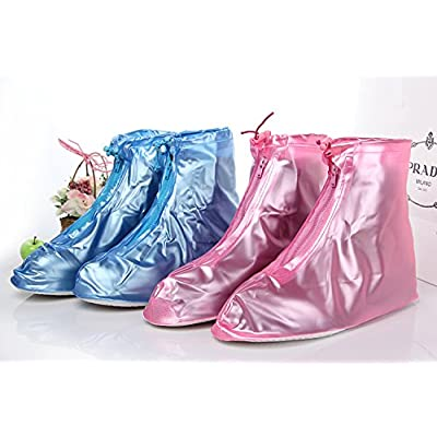 Puddles For Kid's - Emergency Rain Wear for the Feet, If you Splash We've Got You Covered! (Medium 9.5-10.5, Blue)