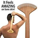 THE BULLDOG Back Scratcher, Unique Brush Skin Stimulator for Itch Relief and Pleasure, Best Gift for Men and Women, Designed for Deep Self Massage