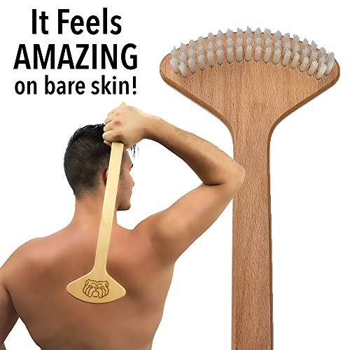 THE BULLDOG Back Scratcher, Unique Brush Skin Stimulator for Itch Relief and Pleasure, Best Gift for Men and Women, Designed for Deep Self Massage -