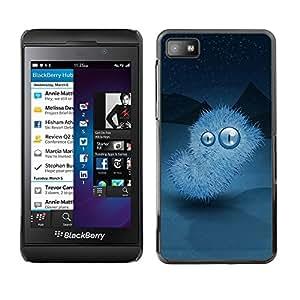 Be Good Phone Accessory // Dura Cáscara cubierta Protectora Caso Carcasa Funda de Protección para Blackberry Z10 // Winter nights Monster