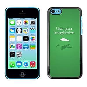 LECELL--Funda protectora / Cubierta / Piel For iPhone 5C -- USO DIVERTIDA SU IMAGINACIÓN --