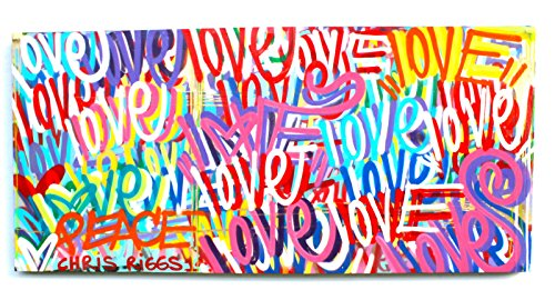 CHRIS RIGGS Original Love painting 72 x 34 pop street art spray paint NYC acrylic contemporary modern art urban fine art canvas