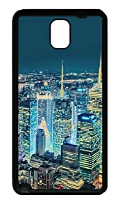 Superb View Over New York Tpu Silicone Rubber Case Back Cover for Samsung Galaxy Note 3 / Note III/ N9000 - Black